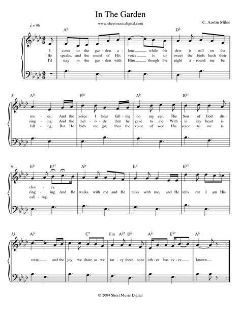 In The Garden Hymn Lyrics by Quot In The Garden Quot Hymm Favorite Hymn Because He Lives