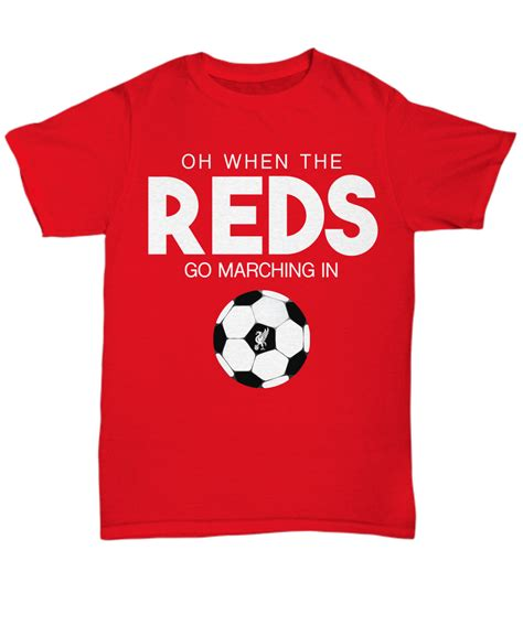 Kaos Ynwa Make Us Liverpool Soccer quot oh when the reds quot liverpool fc lfc team shirt ynwa 1
