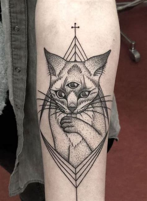 third eye cat tattoo creativefan