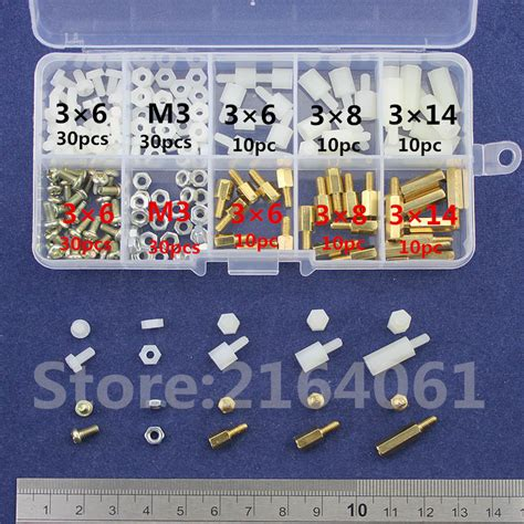 Set Stand Spacer Kit M3x8mm 6 Hex 50pcs pcb spacers reviews shopping pcb spacers reviews on aliexpress