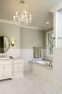 Bathroom Designs Green Paint Subway Tile Backsplash Traditional Bathroom Hendel Homes