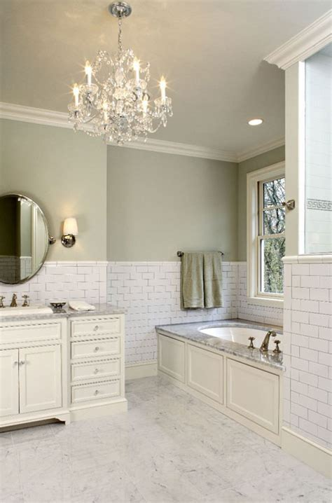hendel homes gorgeous green bathroom with paint color subway tiles backsplash