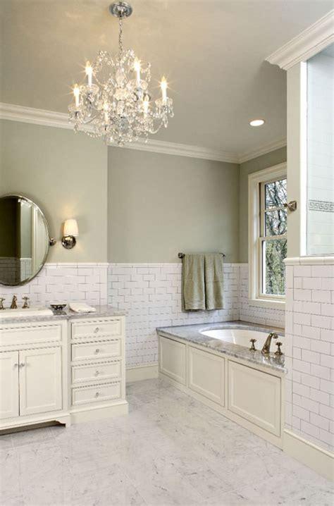 sage bathroom subway tile backsplash traditional bathroom hendel homes