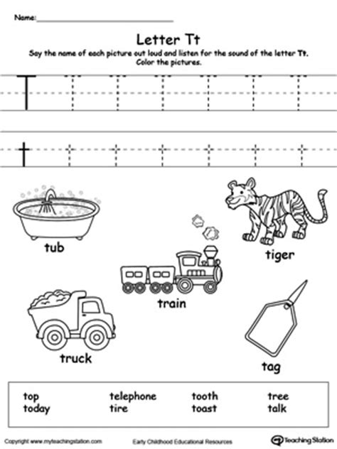 letter t worksheets tracing and writing the letter t myteachingstation 1440