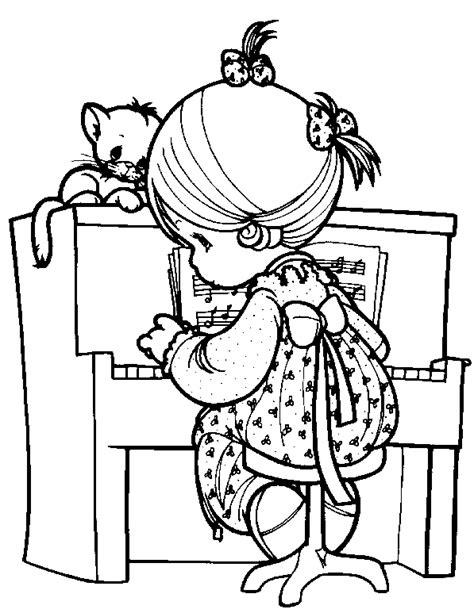 coloring page girl playing piano what triggered a child s hot and cold cloud palace