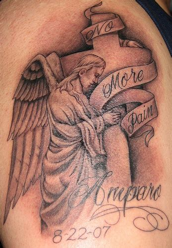 tattoo angel and cross cross angel tattoos fash4style