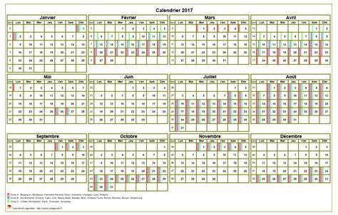 Calendrier 2017 Avec Congés Scolaires Calendrier 2017 Annuel 224 Imprimer Avec Les Vacances