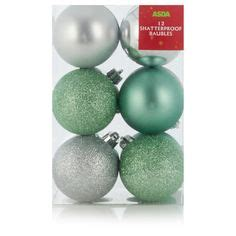 asda christmas baubles in depth and products on