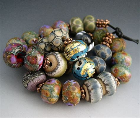 Handmade Glass For Sale - naos glass one of each bead pair mega set 28 made to
