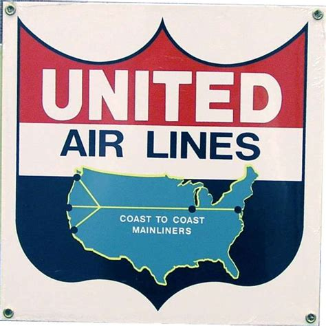 united airline sign in pin by b n sullivan on airline memorabilia pinterest