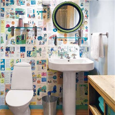 Make Your Own Wall Paper - 6 make your own wallpaper 28 ways to refresh your bath