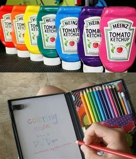 different colored ketchup bottle awesome and coloring on