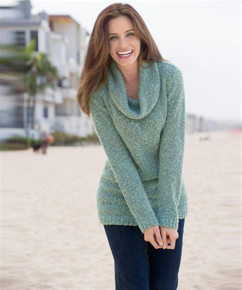 green cowl neck sweater coat nj