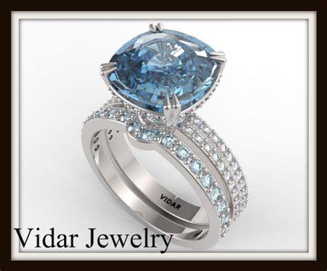 blue topaz wedding ring set vidar jewelry