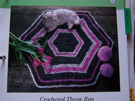 Hexagon Crochet Rug Pattern by 50 Cent Usa Shipping Crocheted Throw Rag Rug Hexagon Shape
