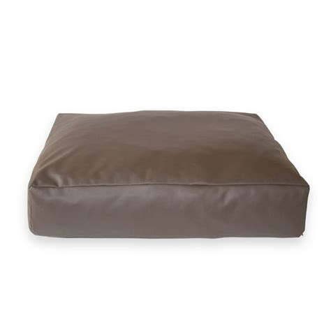 leather dog beds eco faux leather slumber pet cushion new pet beds direct