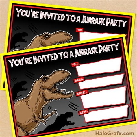 printable jurassic world birthday cards click here to download free printable jurassic park t rex
