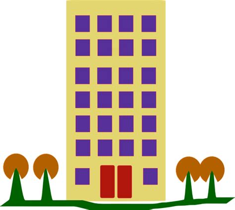 building clipart building with trees clip at clker vector clip