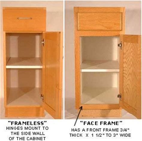 face frame cabinets vs frameless changing from partial overlay doors to full overlay for