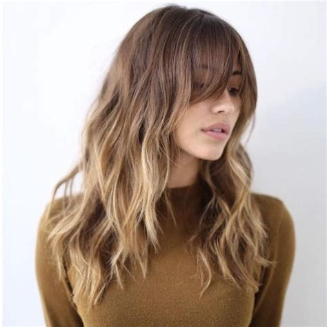haircut for round face long hair with bangs 2018 latest long hairstyles with bangs for round faces