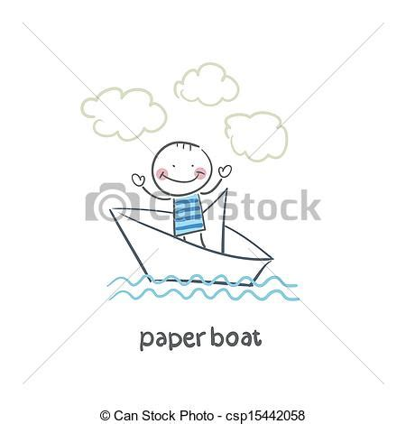 paper boat line drawing clipart vector of paper boat csp15442058 search clip art