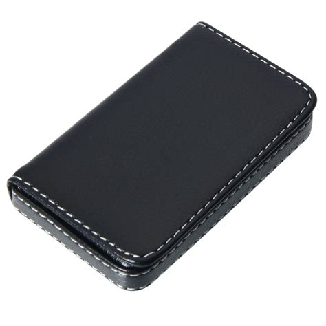 Credit Card Sleeve Template Lot5 Black Premium Pocket Leather Id Credit Card Holder Genuine Coin Wallet Ebay