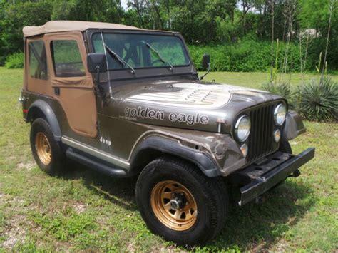 jeep cj golden eagle 1977 jeep cj golden eagle levis edtion original survivor