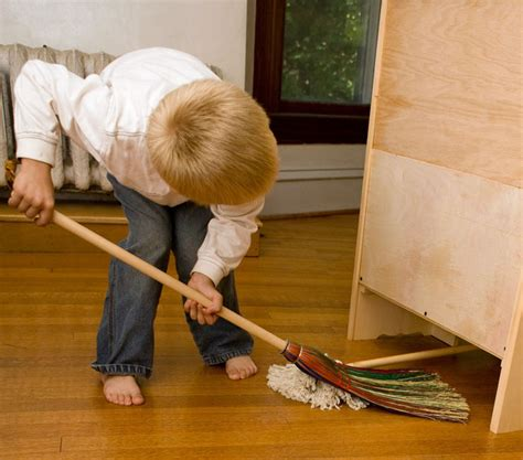 Sweeping Floor by Children At Work And Play