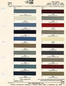 Buick Paint Codes 1968 Paint Codes