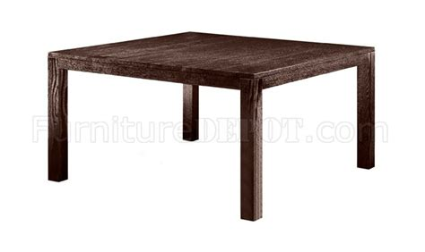 wenge finish square top wooden dining table