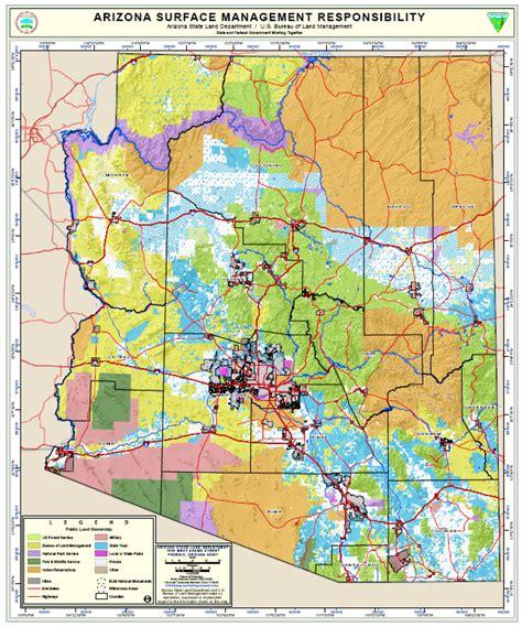 arizona blm land map arizona map blm land