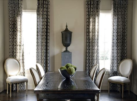 curtains for dining room ideas drapery panels for a gray dining room driven by decor