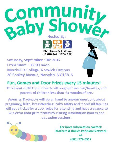 Community Baby Shower by Chenango County Health Nursing 2017 Community