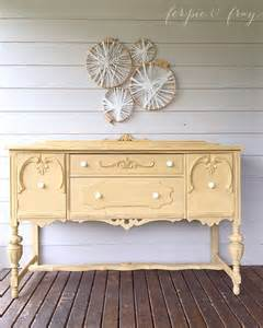 Yellow Buffet Table Best 25 Yellow Chalk Paint Ideas On Yellow