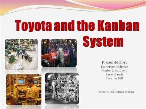 toyota kanban system the kanban system