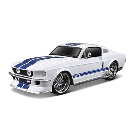 ford mustang remote car maisto tech 1967 ford mustang gt white 1 24 scale 27mhz