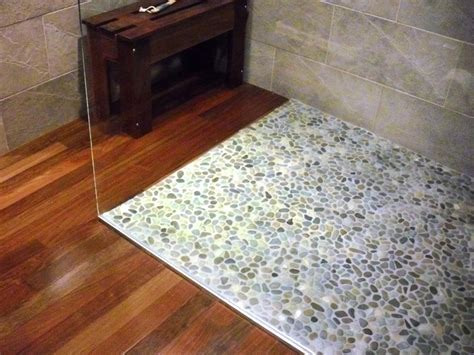 pebble shower floor how to lay a pebble tile floor how tos diy