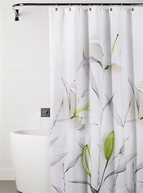 shower curtains online white lily shower curtain simons maison shop fabric