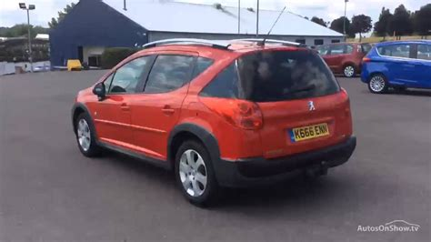 peugeot 207 red peugeot 207 sw outdoor red 2009 youtube