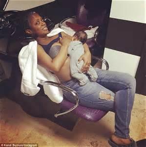 kandi burruss proves breastfeeding is no joke while real housewives of atlanta s kandi burruss breastfeeds son