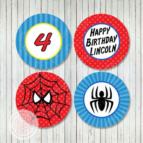 printable spiderman party decorations 1000 images about hombre ara 241 a on pinterest