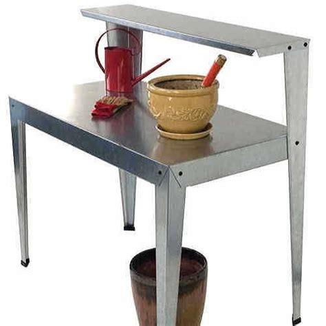 galvanized potting bench galvanized steel potting bench from jackson perkins