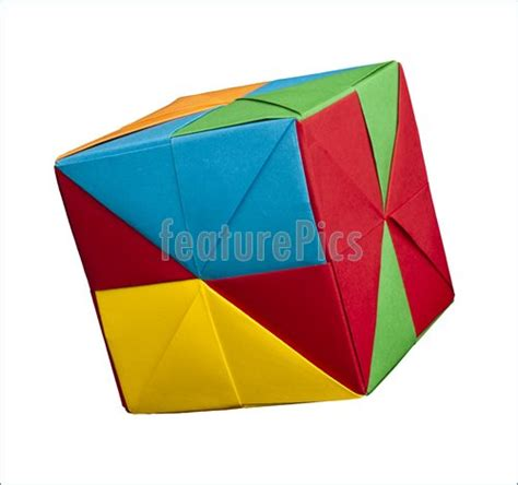 Fold Paper Cube - paper cubes folded origami style photo