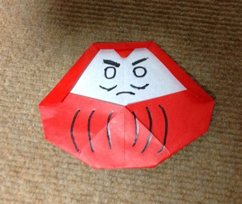 Origami Daruma - だるま 折り紙 折リ方 作り方 正月飾り how to make a daruma doll quot origami