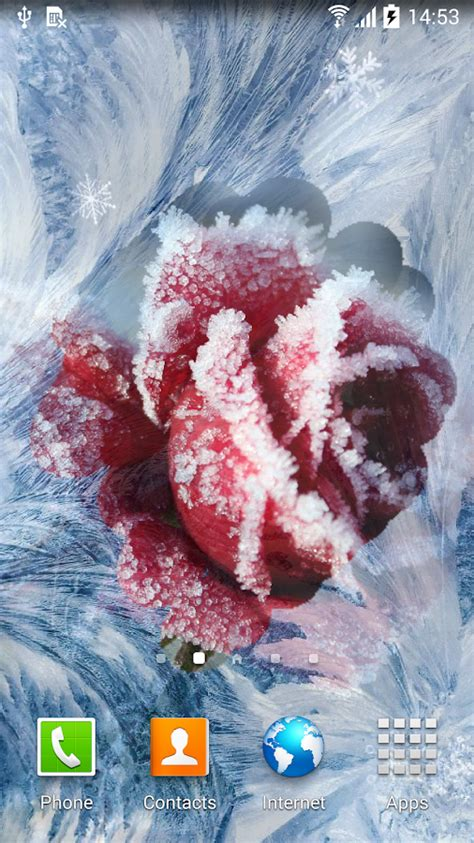 wallpaper frozen live winter flowers live wallpaper android apps on google play