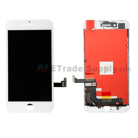 apple iphone 8 plus lcd screen and digitizer assembly with frame white grade r etrade supply