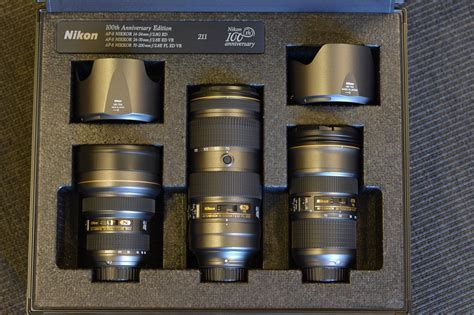 Nikkor triple f/2.8 zoom lens set Nikon 100th anniversary