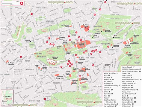 printable maps edinburgh edinburgh map shopping street map showing major