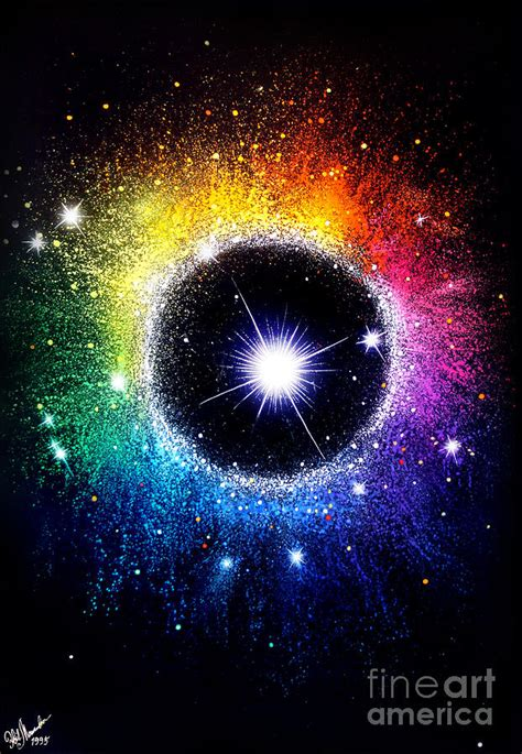 Android App Ideas rainbow circle galaxy beautiful universe painting by