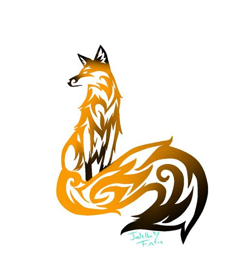 tribal fox tattoo tribal fox by jadethefirefox on deviantart